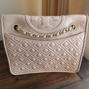 Leather Blush Quilted Tory Burch Bag